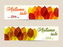 Autumn sale banners Royalty Free Stock Photography