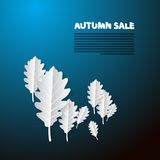 Autumn Sale Blue Background Stock Photography