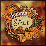 Autumn sale blurred background Stock Image