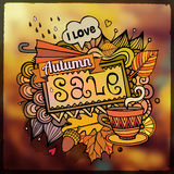Autumn sale blurred background. Vector decorative abstract autumn sale blurred background Royalty Free Stock Photo