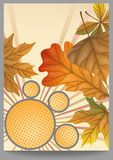Autumn Sale. Business Flyer. Vector Illustration. Eps 10 Stock Photo