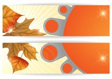 Autumn Sale. Business Flyer. Vector Illustration. Eps 10 Royalty Free Stock Images