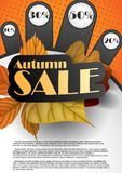 Autumn Sale. Business Flyer. Vector Illustration. Eps 10 Royalty Free Stock Image
