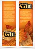 Autumn Sale. Business Flyer. Vector Illustration. Eps 10 Stock Photography