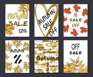 Autumn sale card, illustration. banners and design elements for print Royalty Free Stock Photography