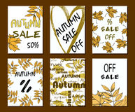 Autumn sale card, illustration. banners and design elements for print Royalty Free Stock Images