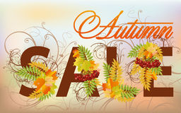 Autumn sale card Stock Image