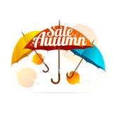 Autumn Sale Card. Vector Stock Photo