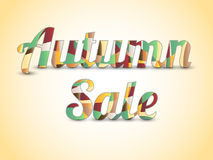 Autumn sale coloured text Stock Photography
