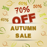 Autumn sale concept Royalty Free Stock Photo