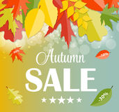 Autumn Sale Concept Vector Illustration Stockfotos