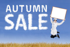 Autumn sale concept Stock Photography