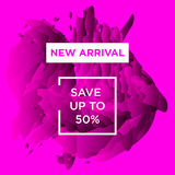 Autumn Sale copy. Sale web banners template for special offers advertisement. Trendy colors in a modern material design style. New arrivals concept for internet Royalty Free Stock Image