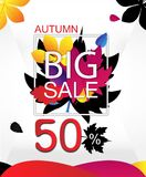 Autumn Sale Creative Vector Concept Photos stock