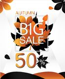 Autumn Sale Creative Vector Concept Photographie stock libre de droits