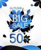 Autumn Sale Creative Vector Concept Photo libre de droits