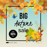 Autumn Sale Design Photographie stock