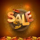 Autumn Sale Design Lizenzfreie Stockfotografie