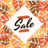Autumn Sale Design Image libre de droits