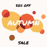 Autumn Sale Design Royalty-vrije Stock Afbeelding