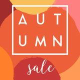 Autumn Sale Design Photographie stock libre de droits