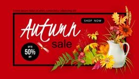 Autumn Sale Design Image libre de droits