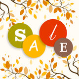 Autumn Sale Design Royalty Free Stock Images