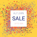 Autumn sale design. Splash of bright fall colors, without banal tree leaves Royalty Free Stock Photo