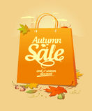 Autumn sale design template. Stock Photo