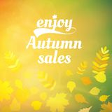 Autumn sale design template. Royalty Free Stock Images