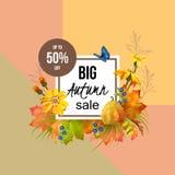 Autumn Sale Design Stock Image
