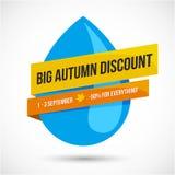 Autumn Sale Discount Logo ou emblème illustration stock