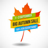 Autumn Sale Discount Logo ou emblème Photo stock