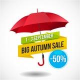 Autumn Sale Discount Logo ou emblème illustration de vecteur