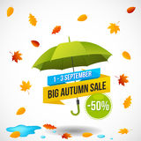 Autumn Sale Discount Logo ou emblème Photos libres de droits