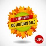Autumn Sale Discount Logo ou emblème Image libre de droits