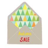 Autumn sale envelope - decorative idea Royalty Free Stock Photo