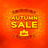 Autumn sale, fall discount and shopping. Typographic badges, special offer Royalty Free Stock Photography