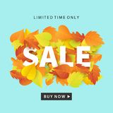 Autumn Sale Fashionable Banner Template Foto de archivo libre de regalías