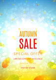 Autumn sale flyer Stock Image