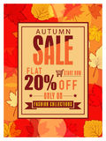 Autumn Sale Flyer or Pamphlet. Royalty Free Stock Photo