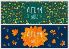 Autumn sale flyer template Stock Photos