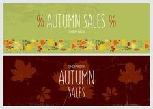 Autumn sale flyer template Stock Photo