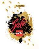 Autumn sale flyer template. Royalty Free Stock Photos