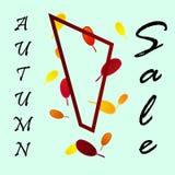 Autumn sale flyer template. royalty free illustration