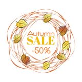 Autumn sale frame Royalty Free Stock Images