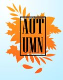 Autumn sale and hello autumn vector design set of posters and background. Esp 10 stock illustration