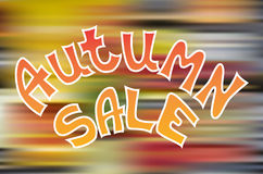Autumn sale icon. Autumn special sale vector typography poster Royalty Free Stock Photos