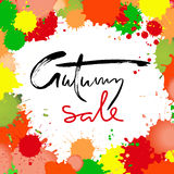 Autumn Sale inscription for banners, season sale posters, discount tags. Royalty Free Stock Photo