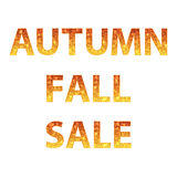 Autumn sale inscriptions Royalty Free Stock Images